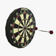 Dartboard Sportcraft Low Poly 3d model