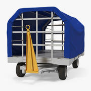 Kryty lotniskowy bagażnik Podwieszany model 3D 3d model