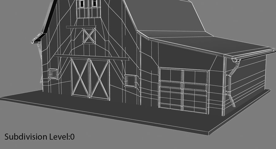 외양간 royalty-free 3d model - Preview no. 14