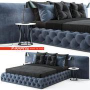 Flexform Mood Leonardo bed 3d model