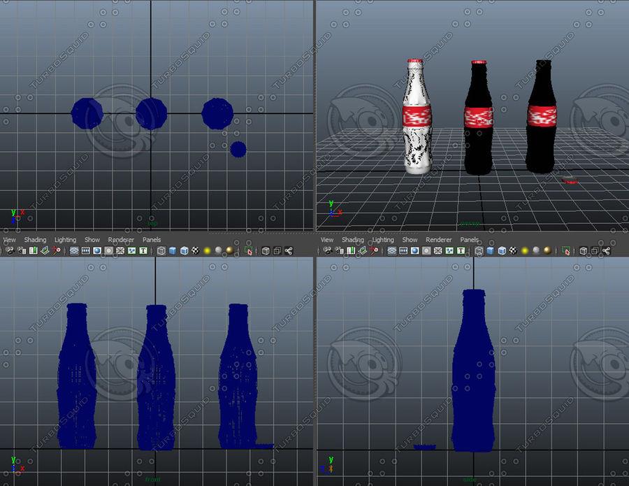 Бутылки кока-колы royalty-free 3d model - Preview no. 7