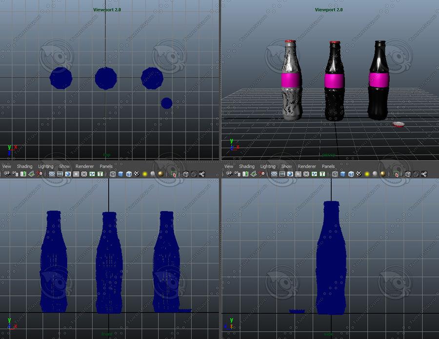 Бутылки кока-колы royalty-free 3d model - Preview no. 6
