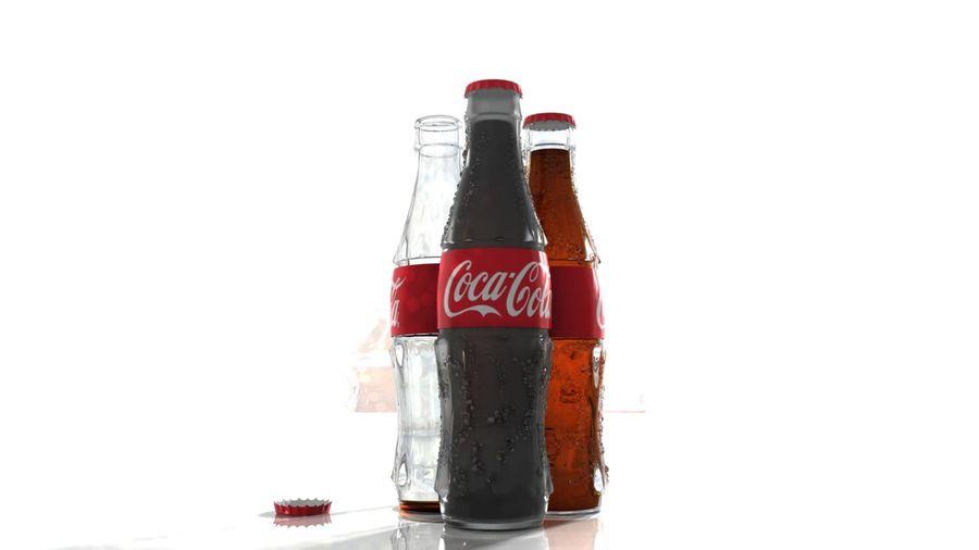 Бутылки кока-колы royalty-free 3d model - Preview no. 2