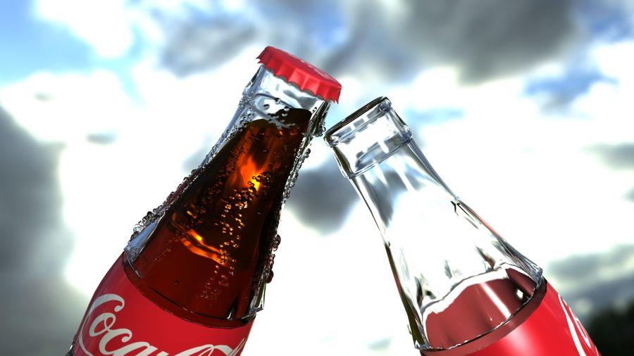 Бутылки кока-колы royalty-free 3d model - Preview no. 5