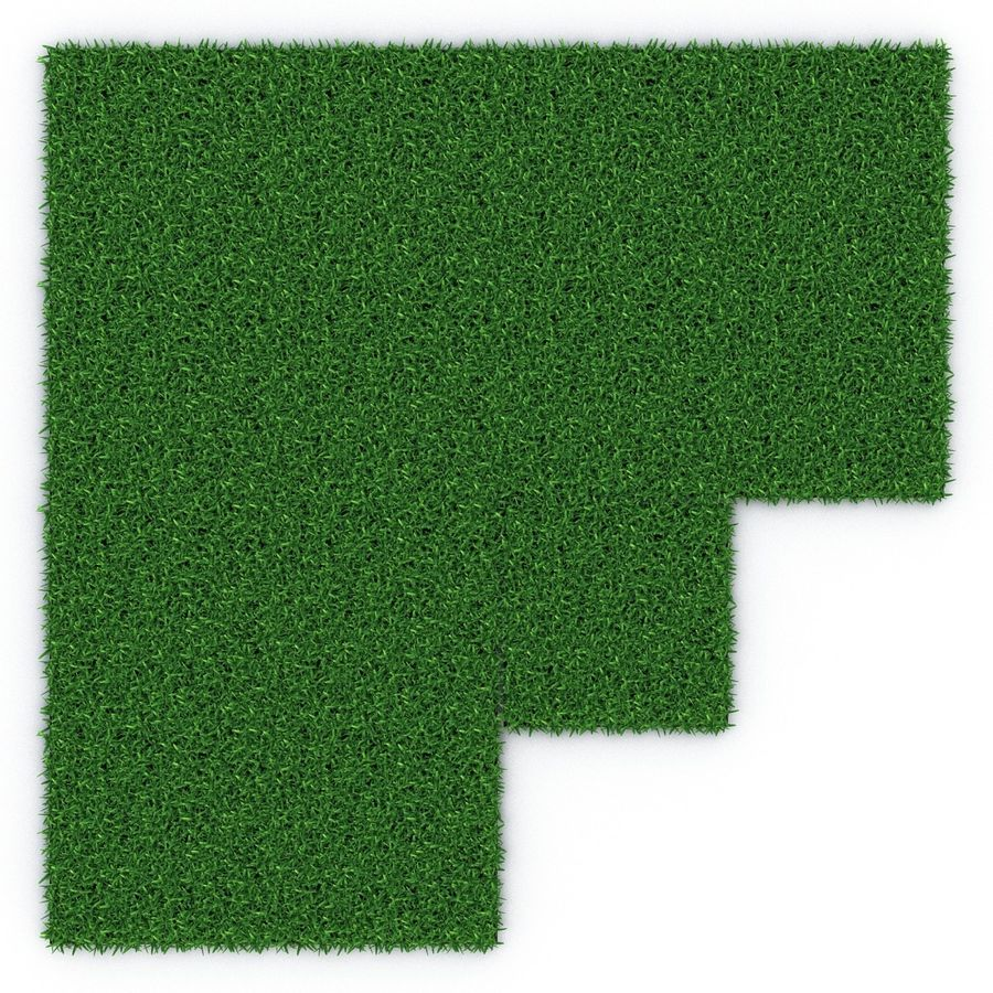 Grass Fields 3D Models Collection 3 royalty-free 3d model - Preview no. 12