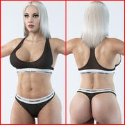Fitness kvinna 3 3d model