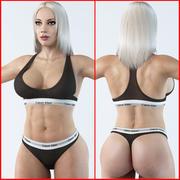 Fitness donna 3 3d model