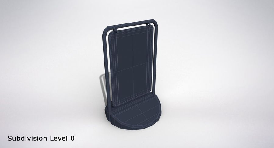 Swing Sign royalty-free 3d model - Preview no. 12