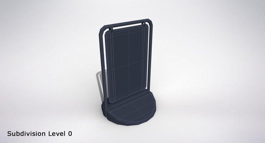 Schaukel Zeichen royalty-free 3d model - Preview no. 12