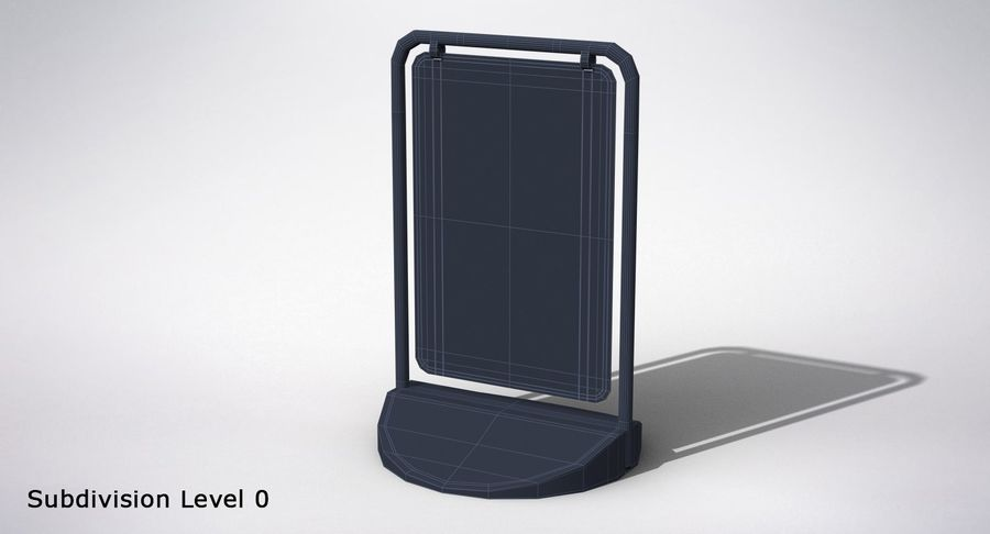 Swing Sign royalty-free 3d model - Preview no. 10