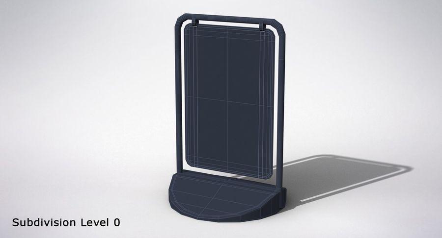Schaukel Zeichen royalty-free 3d model - Preview no. 10