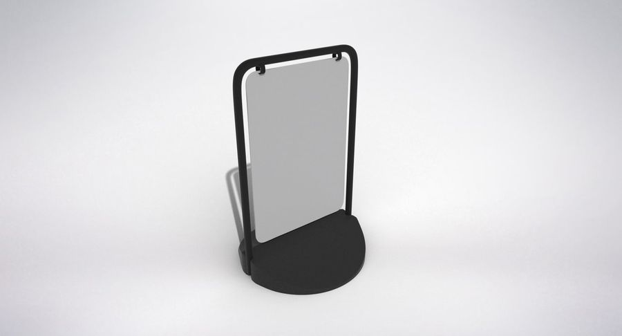 Swing Sign royalty-free 3d model - Preview no. 4