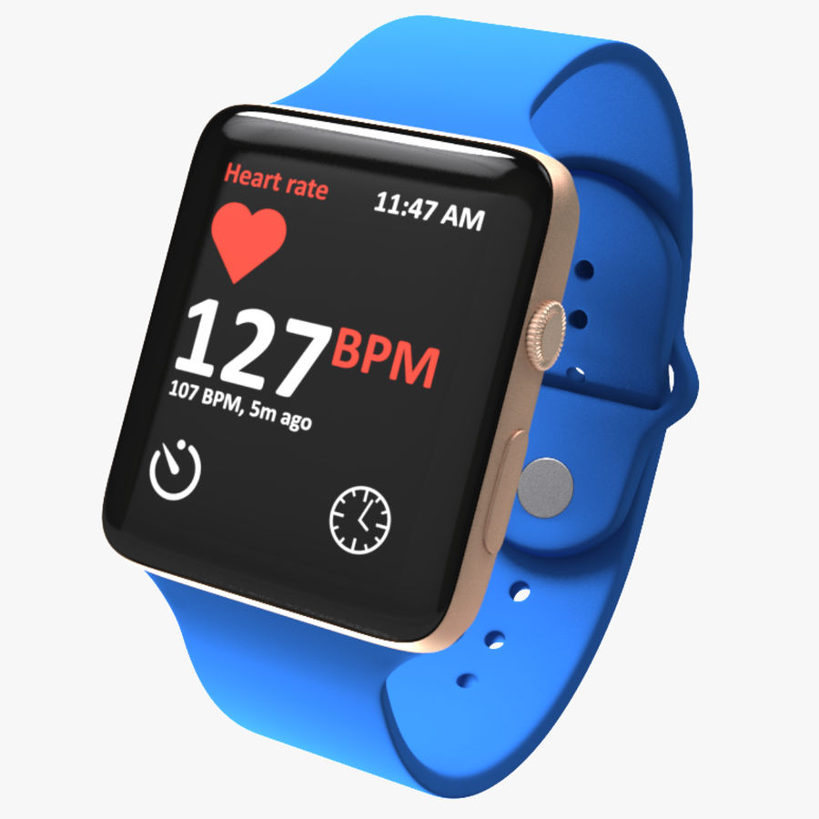 Apple Watch 2 royalty-free 3d model - Preview no. 1