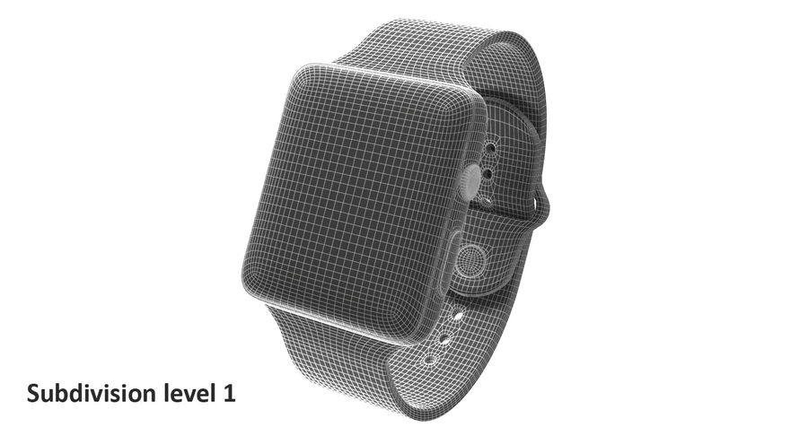 Apple Watch 2 royalty-free 3d model - Preview no. 4