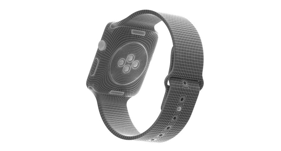 Apple Watch 2 royalty-free 3d model - Preview no. 10