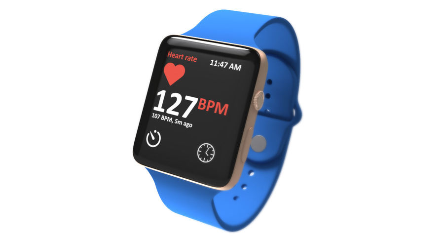 Apple Watch 2 royalty-free 3d model - Preview no. 3