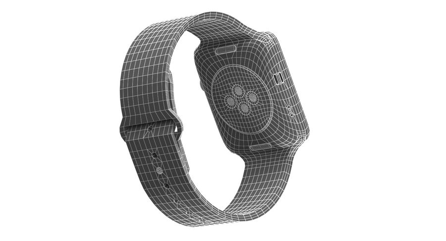 Apple Watch 2 royalty-free 3d model - Preview no. 14