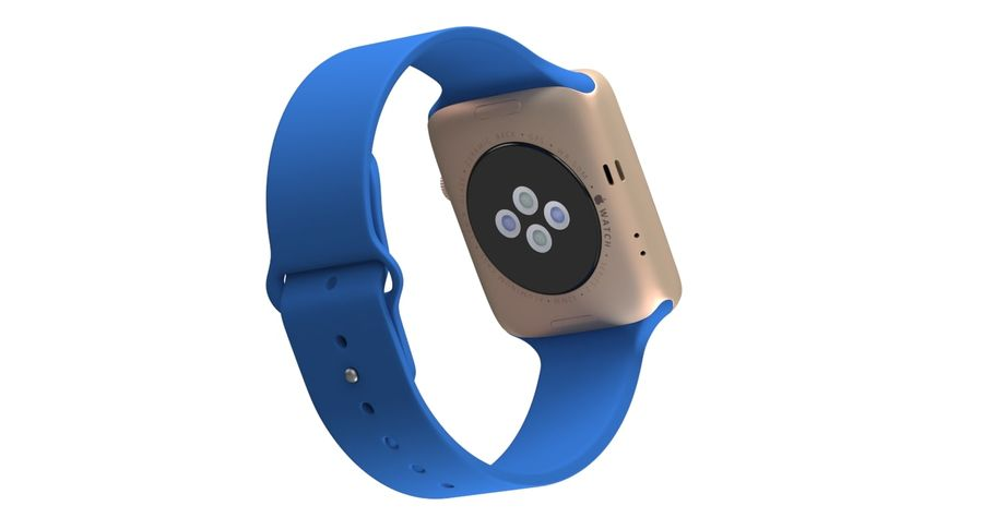 Apple Watch 2 royalty-free 3d model - Preview no. 12