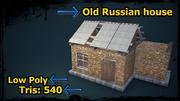 늙은 러시아 집 3d model