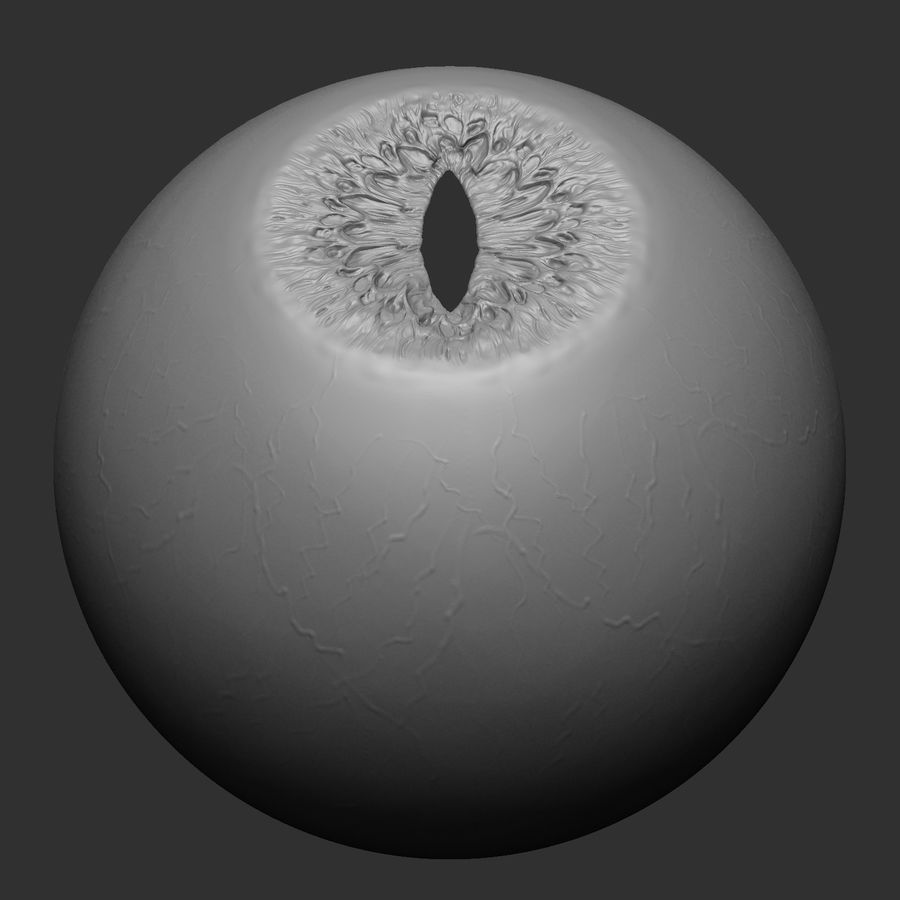 Animal (Monster) Eye royalty-free 3d model - Preview no. 6
