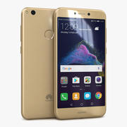 Huawei P8 Lite 2017 goud 3d model