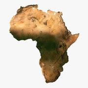 アフリカ3Dモデルのレリーフマップ 3d model