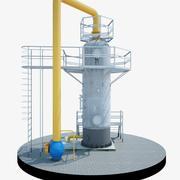 Siklon Gaz Toz Toplayıcı 3d model