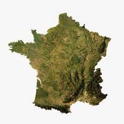 Mappa in rilievo della Francia modello 3D 3d model