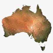 3D relevo da Austrália 3d model