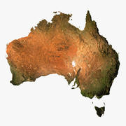 Reliefkarte des australischen 3D-Modells 3d model