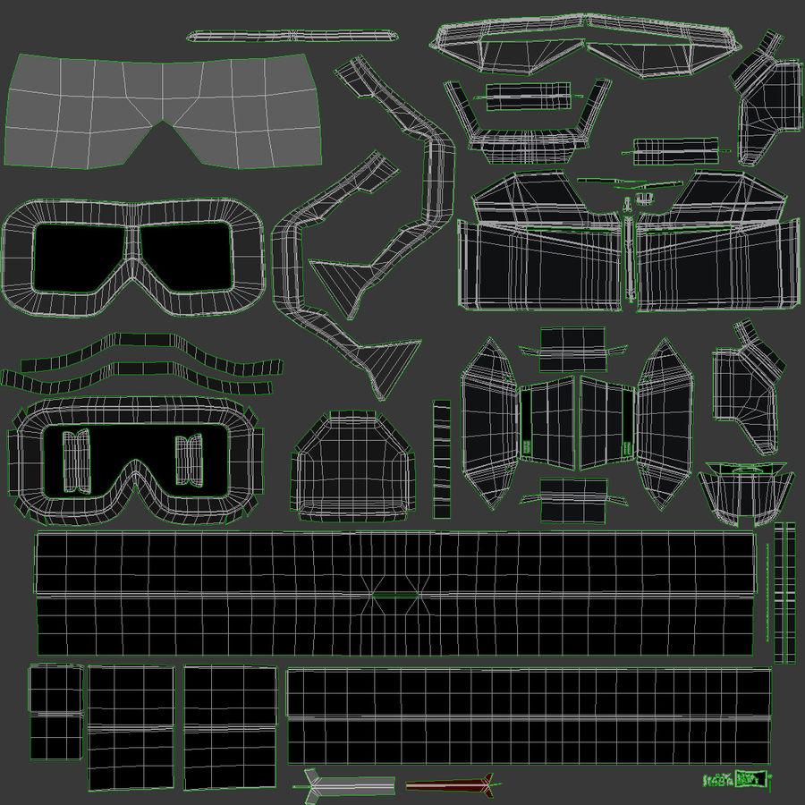 StarVR Sanal Gerçeklik gözlükleri royalty-free 3d model - Preview no. 18
