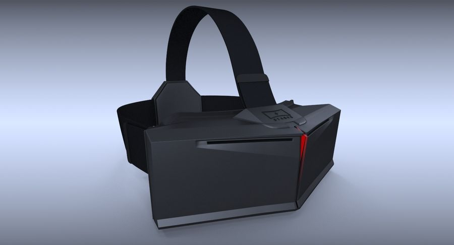 StarVR Sanal Gerçeklik gözlükleri royalty-free 3d model - Preview no. 3