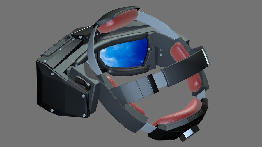 Casque Star VR royalty-free 3d model - Preview no. 3