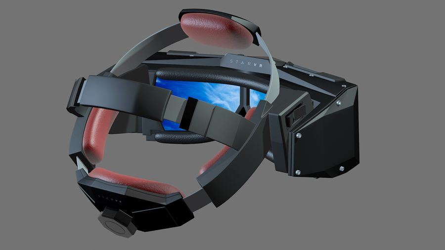 Casque Star VR royalty-free 3d model - Preview no. 2