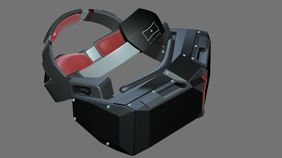 Casque Star VR royalty-free 3d model - Preview no. 1