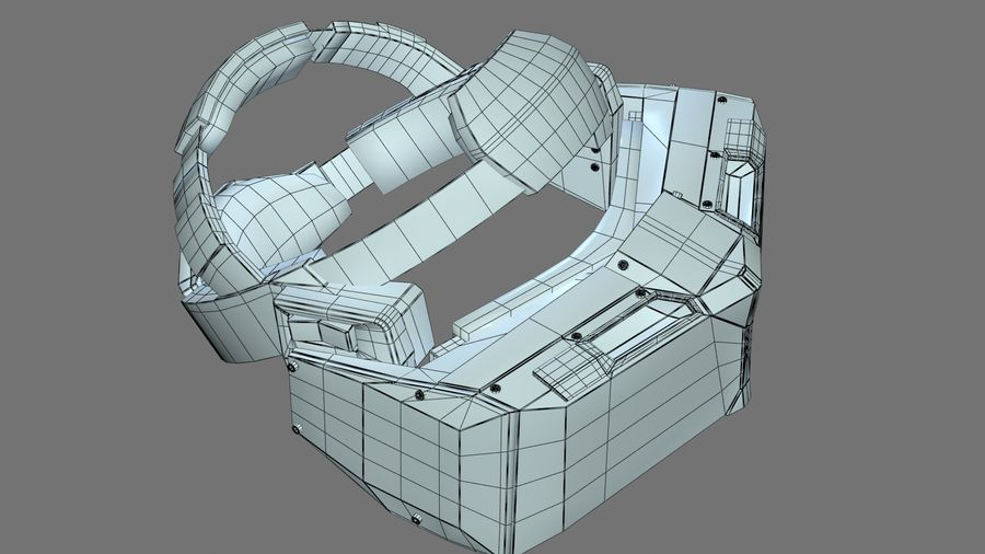 Casque Star VR royalty-free 3d model - Preview no. 5