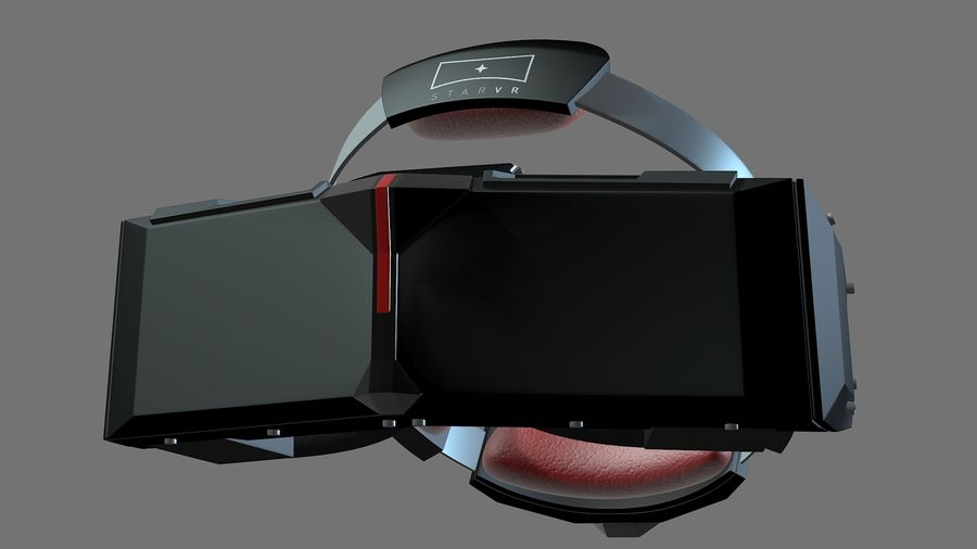 Casque Star VR royalty-free 3d model - Preview no. 4