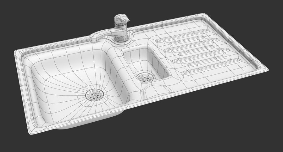 Évier et robinet royalty-free 3d model - Preview no. 24