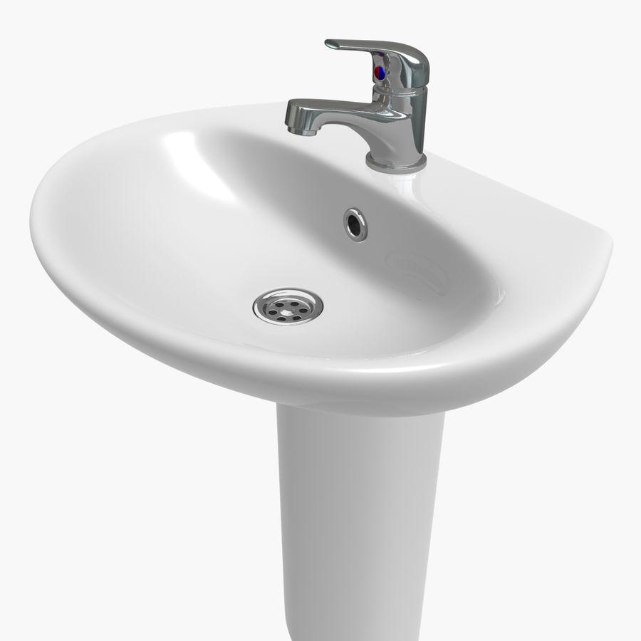 Banyo Bataryası ile Lavabo royalty-free 3d model - Preview no. 6