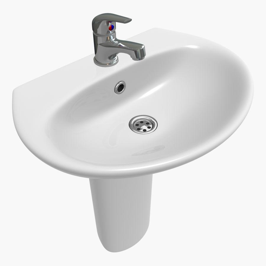 Banyo Bataryası ile Lavabo royalty-free 3d model - Preview no. 4