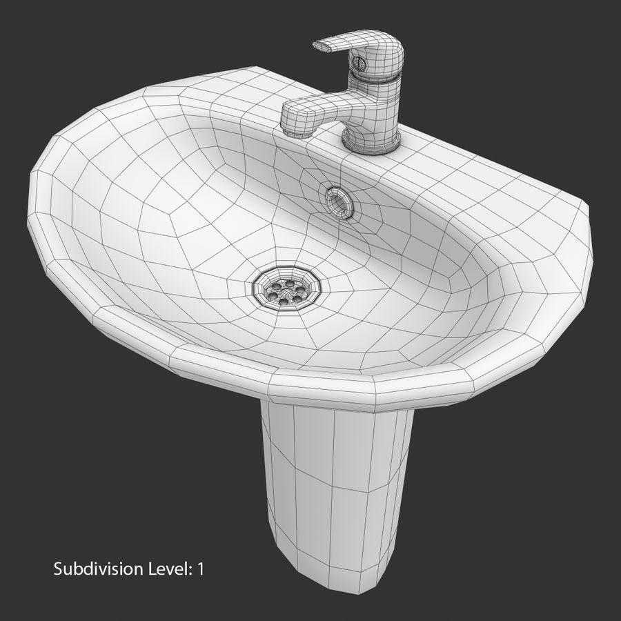 Banyo Bataryası ile Lavabo royalty-free 3d model - Preview no. 16