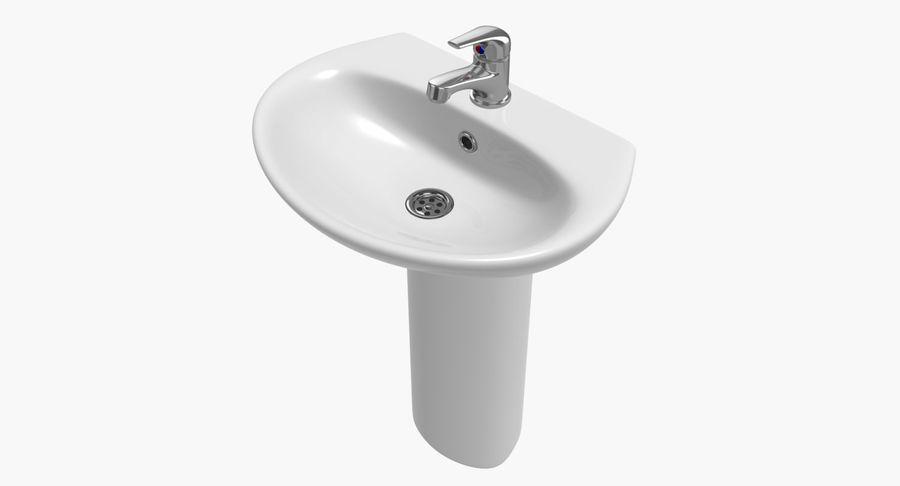 Banyo Bataryası ile Lavabo royalty-free 3d model - Preview no. 2