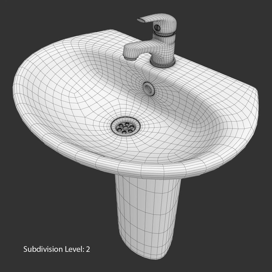 Banyo Bataryası ile Lavabo royalty-free 3d model - Preview no. 17