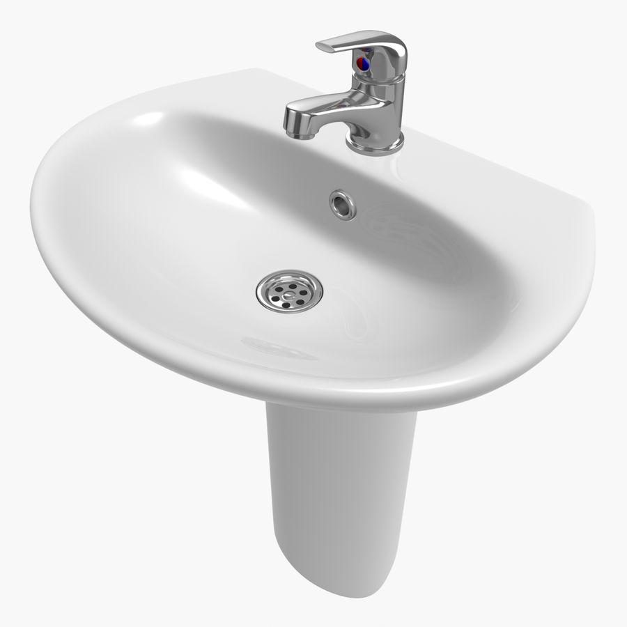 Banyo Bataryası ile Lavabo royalty-free 3d model - Preview no. 1