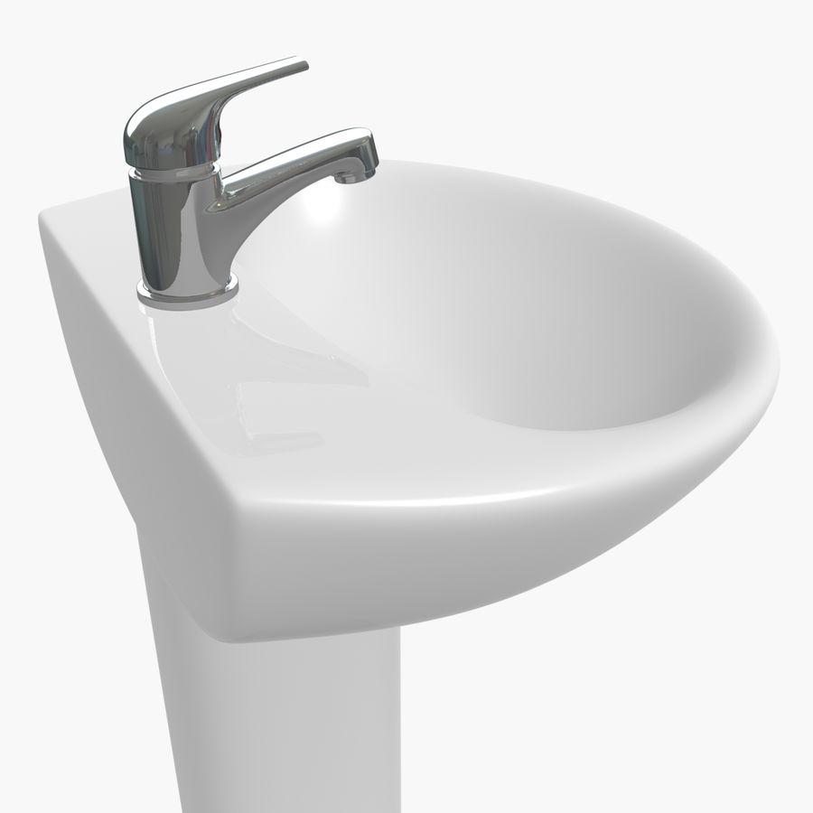 Banyo Bataryası ile Lavabo royalty-free 3d model - Preview no. 7