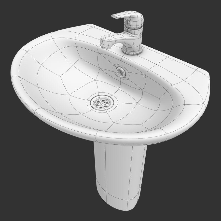 Banyo Bataryası ile Lavabo royalty-free 3d model - Preview no. 11