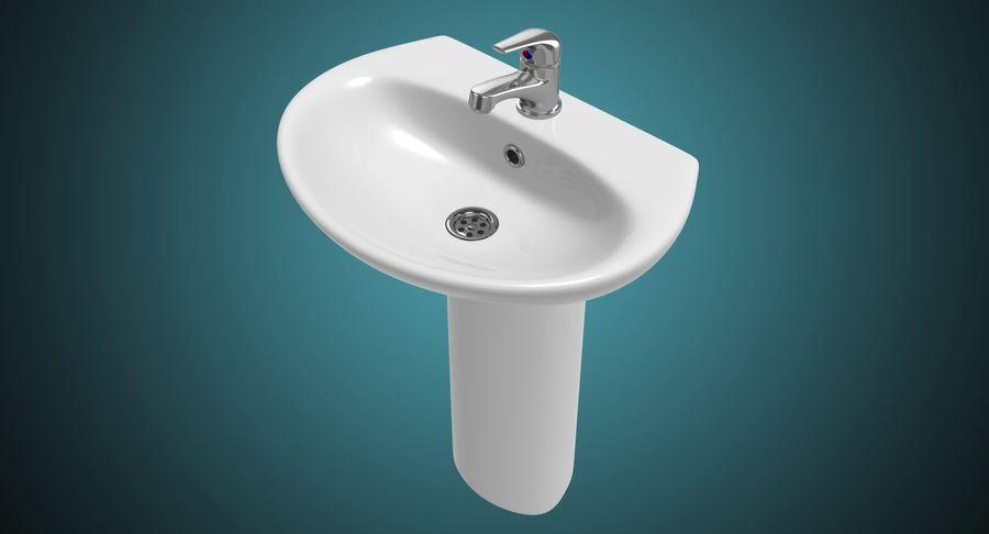 Banyo Bataryası ile Lavabo royalty-free 3d model - Preview no. 3
