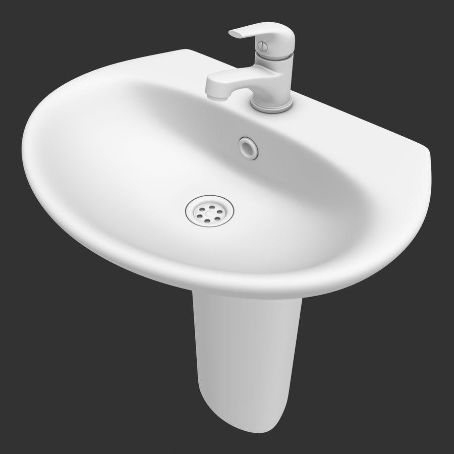 Banyo Bataryası ile Lavabo royalty-free 3d model - Preview no. 24