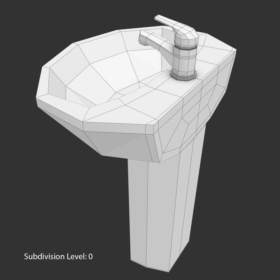 Banyo Bataryası ile Lavabo royalty-free 3d model - Preview no. 18
