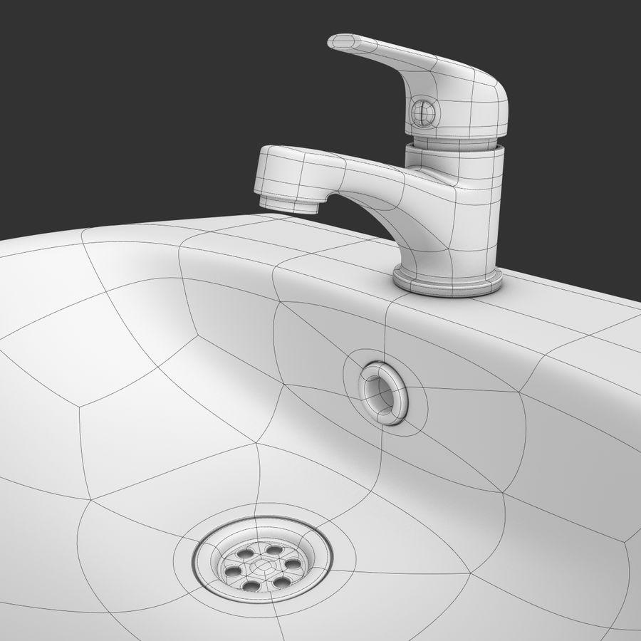 Banyo Bataryası ile Lavabo royalty-free 3d model - Preview no. 13